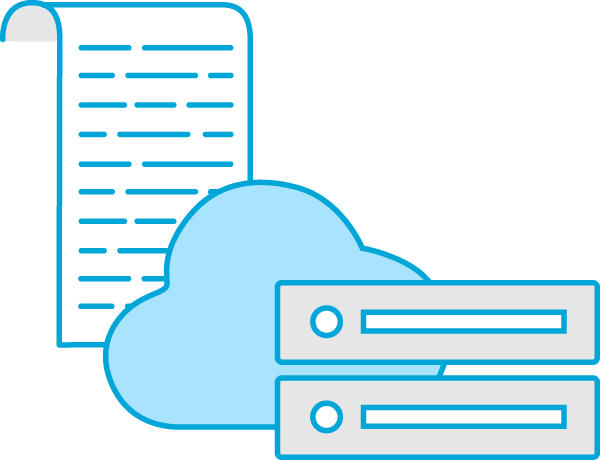 Data is stored in the cloud